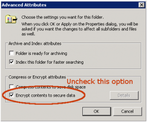 encrypt contents options