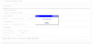 Screenshot of My Library modal window example