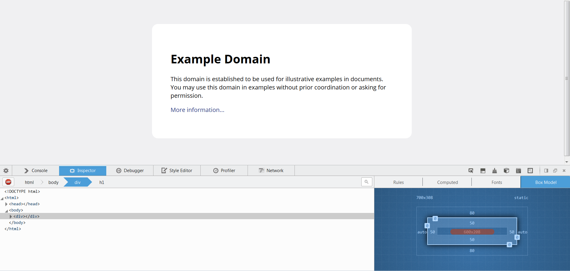example domain - HD 1920×915